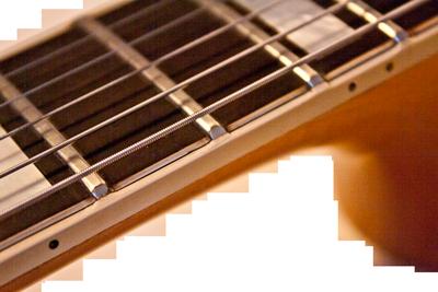 Acoustic Guitar Fretboard Binding Repair
