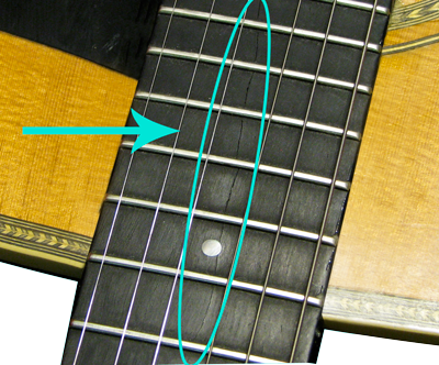 Acoustic Guitar Fretboard Crack Repair