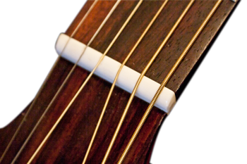 Lower action acoustic guitar nut