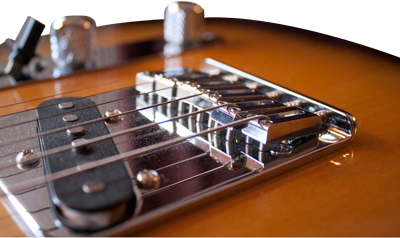 Electric Guitar Bridge Action Adjustment