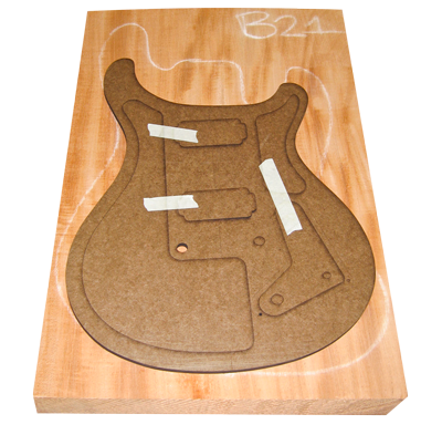 PRS McCarty Guitar Body Template