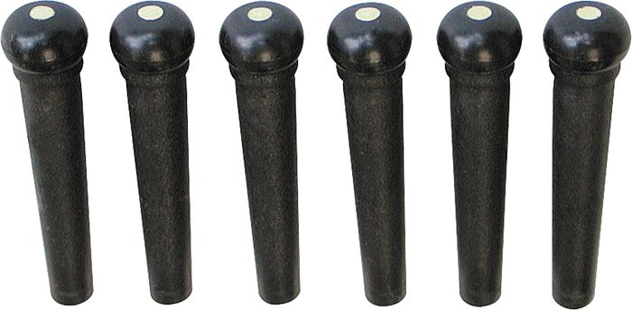 Graph Tech Tusq Ivory Acoustic Guitar Bridge Pins Black Pearl Dot