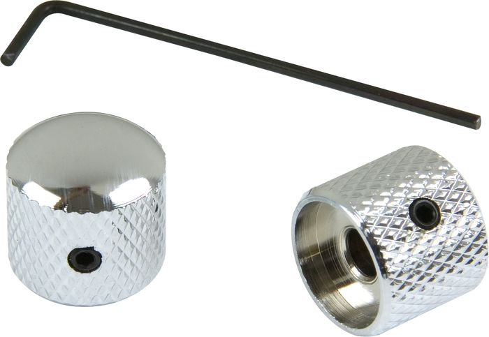ProLine US Tele Dome Knob with Wrench 2-Pack Chrome