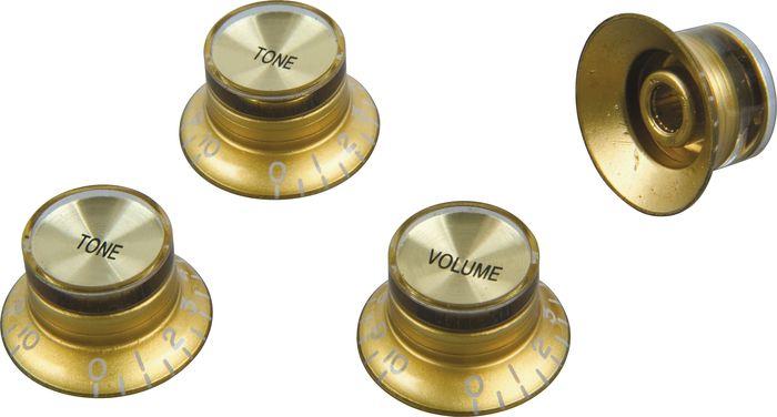 ProLine US Les Paul Style Top Hat Knob Set of 4 Gold