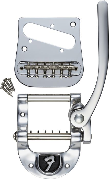 Bigsby B5 Fender Vibrato Kit - Original Fender Logo For Telecaster Guitars Chrome