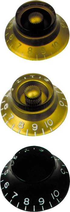 Gibson Top Hat Knobs Gold 4-Pack