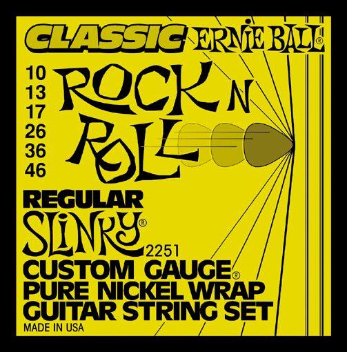 Ernie Ball 2251 Pure Nickel Slinky Electric Guitar Strings