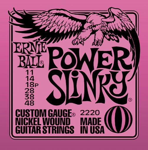 Ernie Ball 2220 Power Slinky Nickel Electric Guitar Strings