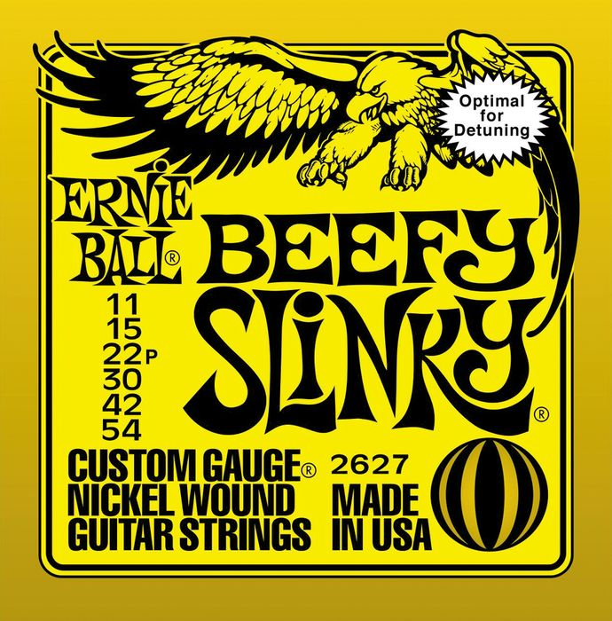 Ernie Ball 2627 Nickel Beefy Slinky Drop Tuning Electric Guitar Strings