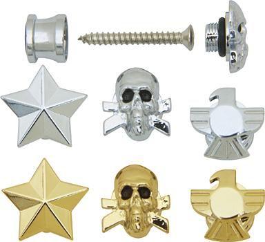 Grover-Trophy Custom Designed Strap Buttons Chrome Skull