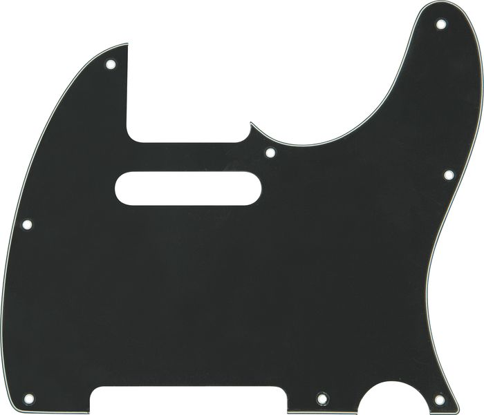 Musician's Gear 2 Single-Coil Tele Pickguard Black